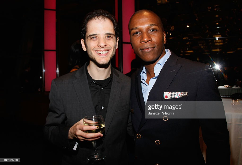 Leslie Odom Jr and guest attend the 28th Annual Lucille Lortel Awards After Party on May 5, 2013 in New York City.