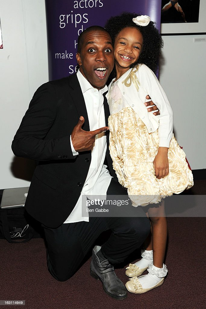 Leslie Odom Jr. and Tyrah Skye Odoms attend 'Our Town' Benefit Performance at the Gerald W. Lynch Theatre on March 4, 2013 in New York City.