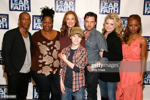 Leslie Odom Jr Kecia LewisEvans Jessica Phillips Talon Ackerman Raul Esparza Kendra Kassebaum and Krystal Joy Brown attend Broadway's 'Leap Of Faith'...