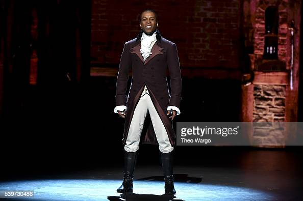 Leslie Odom Jr performs onstage during the 70th Annual Tony Awards at The Beacon Theatre on June 12 2016 in New York City
