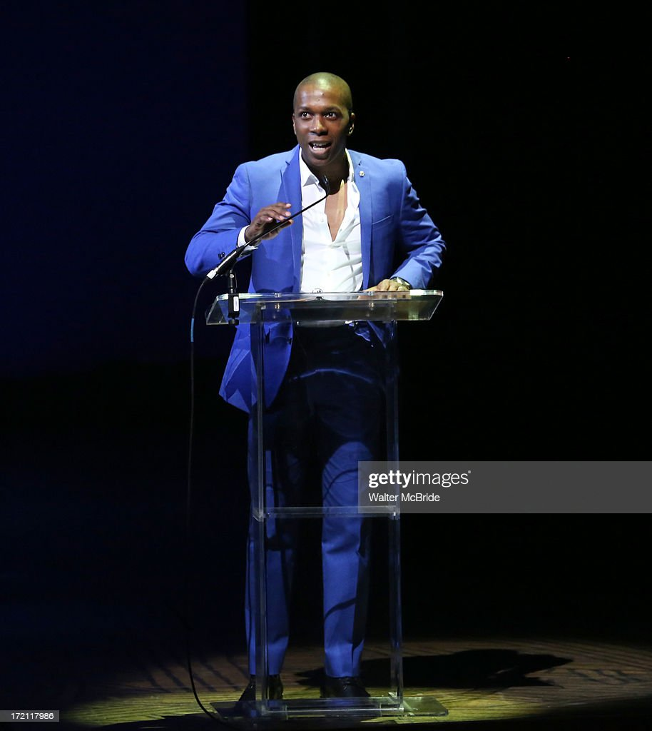 Leslie Odom performs at the 5th Annual National High School Musical Theater Awards at Minskoff Theatre on July 1, 2013 in New York City.