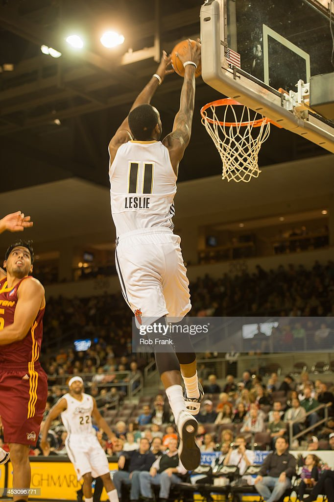 C.J. Leslie #11 of the Erie Bayhawks dunks the ball against the Canton Charge during a NBA D-League on November 22, 2013 at the Tullio Arena in Erie, Pennsylvania.