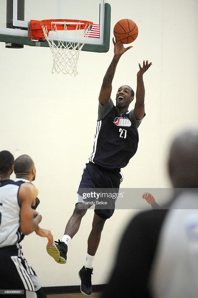 CJ Leslie #27 of the Idaho Stampede goes to the basket on day two of the 2014 NBA Development League Elite Mini Camp on May 13, 2014 at Quest Multisport in Chicago, Illinois.