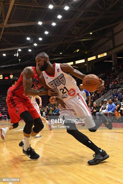 Leslie of the Raptors 905 drives to the basket against the Windy City Bulls on March 30 2017 in Mississauga Ontario Canada NOTE TO USER User...