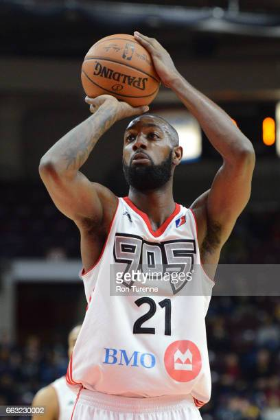 Leslie of the Raptors 905 shoots a foul shot against the Windy City Bulls on March 30 2017 in Mississauga Ontario Canada NOTE TO USER User expressly...