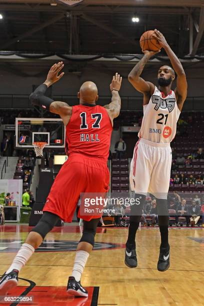 Leslie of the Raptors 905 shoots the ball against the Windy City Bulls on March 30 2017 in Mississauga Ontario Canada NOTE TO USER User expressly...