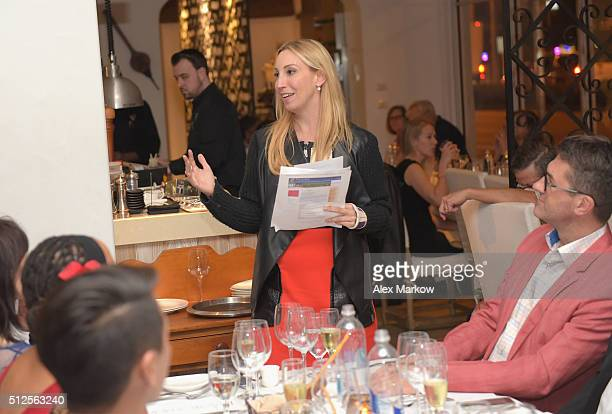 Leslie Silver speaks at a Dinner Hosted By Marc Vetri And Giovanni Rocchio Part of the Taste Fort Lauderdale Seriesduring 2016 Food Network Cooking...