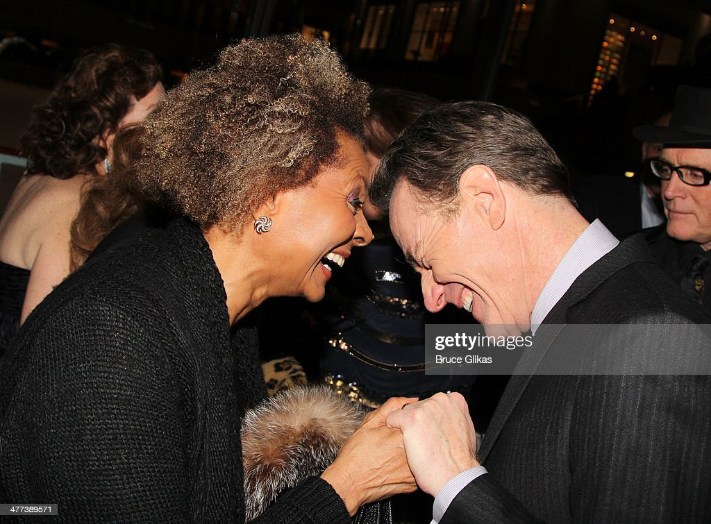 Leslie Uggams and Bryan Cranston attend The Opening Night Party for 'All The Way'on Broadway at The Rink at Rockefeller Center Oasis on March 6 2014...