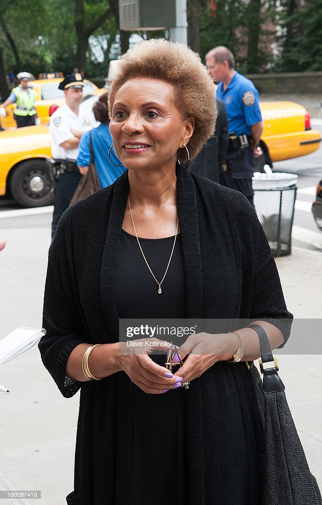 <a gi-track='captionPersonalityLinkClicked' href=/galleries/search?phrase=Leslie+Uggams&family=editorial&specificpeople=213729 ng-click='$event.stopPropagation()'>Leslie Uggams</a> attends the funeral service for Marvin Hamlisch, at Temple Emanu-El on August 14, 2012 in New York City. Hamlisch died in Los Angeles on August 6, 2012 at age 68. In his long and distinguished career, the composer and conductor received a Pulitzer Prize as well as the Oscar, Tony, Emmy and a GRAMMY.