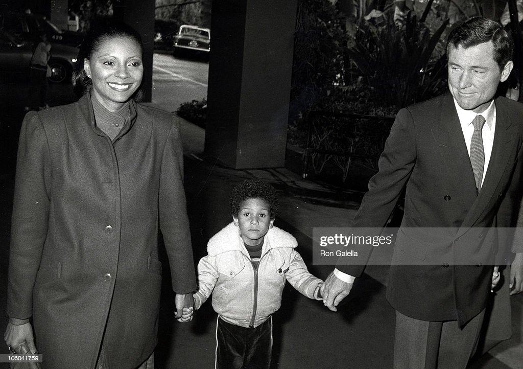 Leslie Uggams Husband Grahame Pratt and Son during Easter Brunch April 19 1981 at Beverly Hills Hotel in Beverly Hills California United States