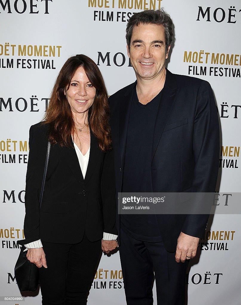 Leslie Urdang And Jon Tenney Attend The Moet Chandon Celebration Of Golden Globes On