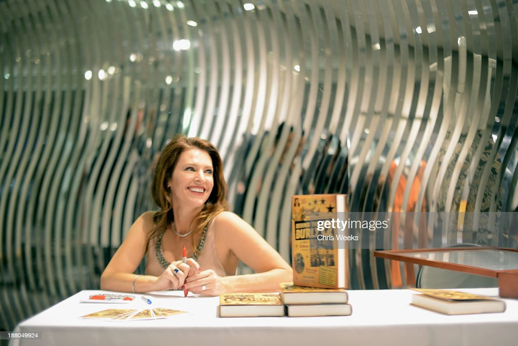 <a gi-track='captionPersonalityLinkClicked' href=/galleries/search?phrase=Leslie+Zemeckis&family=editorial&specificpeople=206934 ng-click='$event.stopPropagation()'>Leslie Zemeckis</a> attends her book signing for 'Behind the Burly Q' at Alberta Ferretti Boutique on November 14, 2013 in West Hollywood, California.