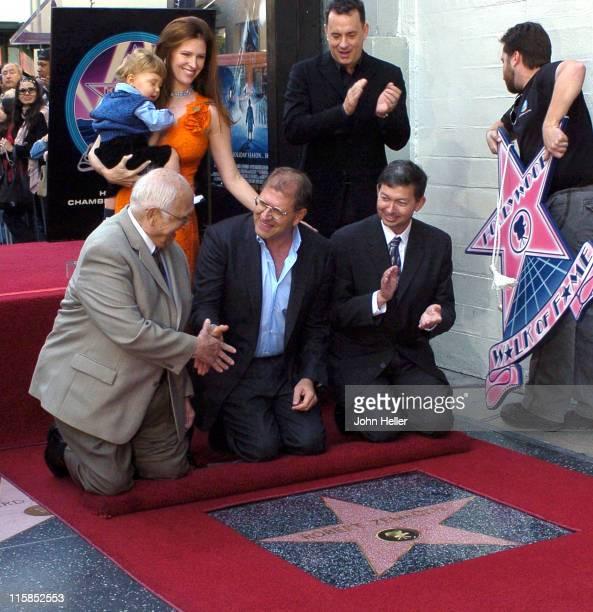 Leslie Zemeckis Johnny Grant Robert Zemeckis Leron Gubler and Tom Hanks
