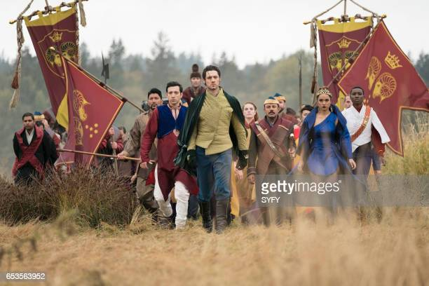 THE MAGICIANS 'Lesser Evils' Episode 209 Pictured Sergio Osuna as Rafe Hale Appleman as Eliot Summer Bishil as Margo