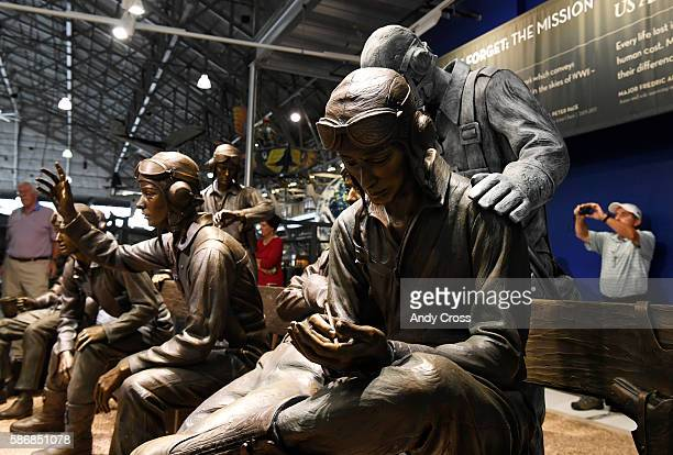Lest We Forget The Mission statues at the Wings over the Rockies Air and Space Museum August 06 2016 WWII Veteran pilot and sculptor Frederic Arnold...