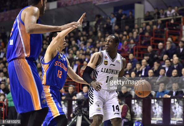 Lester Hudson of Liaoning Flying Leopards drives the ball during the Chinese Basketball Association 15/16 season playoff final match between Liaoning...