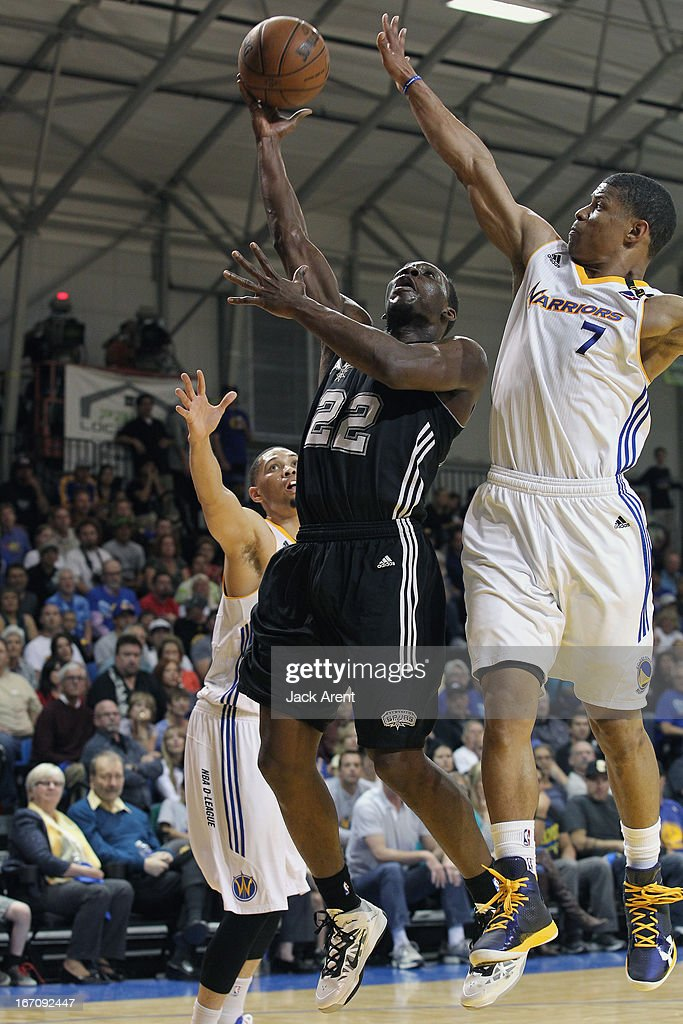 Lester Hudson #22 of the Austin Toros goes up strong to the rim against Scott Machado #7 of the Santa Cruz Warriors in an NBA Development League Playoff Game on April 19, 2013 at Kaiser Permanente Arena in Santa Cruz, California.