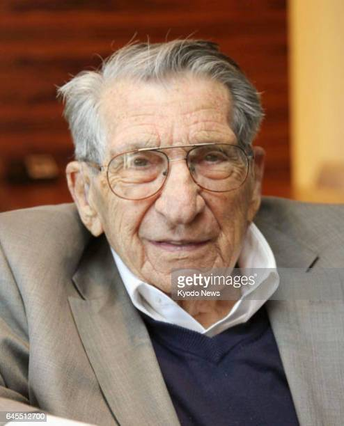 Lester Tenney seen in this photo taken in November 2015 a former US prisoner of war held by the Imperial Japanese Army and survivor of the 1942...