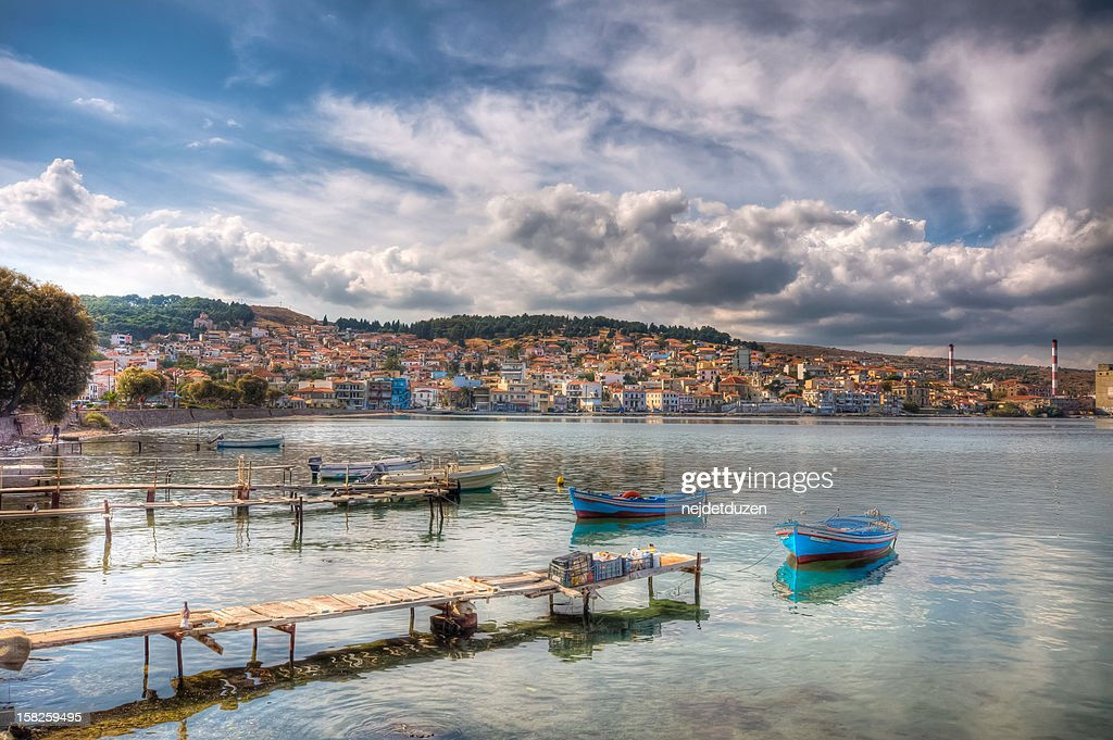 Lesvos Old Harbour, Greece : Stock Photo