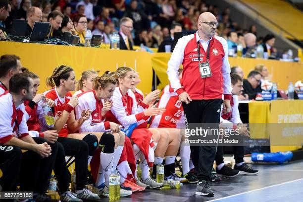 Leszek Krowicki head coach of Poland looks on during IHF Women's Handball World Championship group B match between Poland and Hungary on December 07...