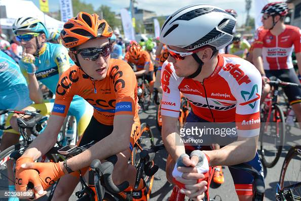 Leszek Plucinski and Pawel Charucki chat together ahead of the opening stage of the 52nd Presidential Tour of Turkey 2016 the Spor Toto stanbul...