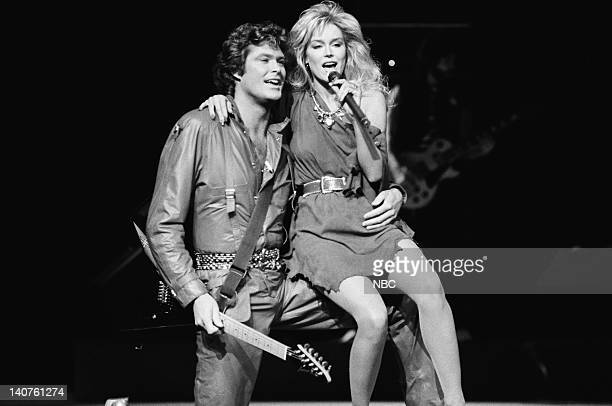 RIDER 'Let It Be Me' Episode 23 Pictured David Hasselhoff as Michael Knight Catherine Hickland as Stephanie 'Stevie' March Photo by NBCU Photo Bank