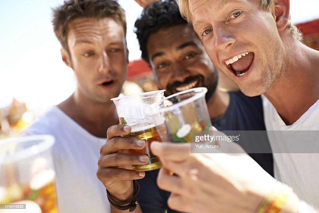 Let the partying begin! : Stock Photo