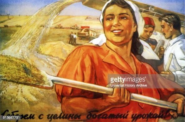 Let us bring in a rich harvest of new territory' Soviet Russian propaganda poster by Oleg Mikhailovich Sawostjuk 1927