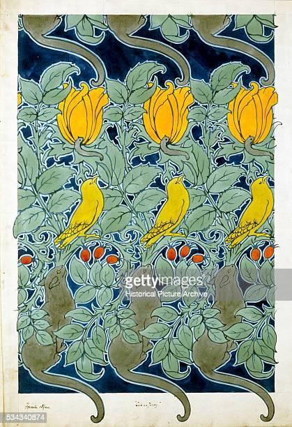 Let us Prey Textile Design by Charles Annesley Voysey