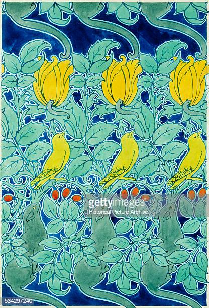 Let Us Prey Textile Design by Charles Francis Annesly Voysey