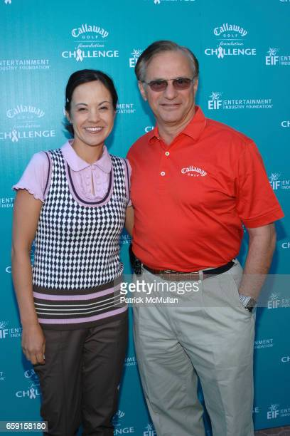 Leta Lindley and George Fellows attend Callaway Golf Foundation Challenge Benefitting Entertainment Industry Foundation Cancer Research Programs at...