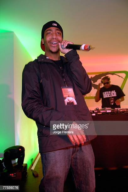Lethal Bizzle perform during the Reebok NFL Party held at The Music Rooms on October 27 2007 in London England