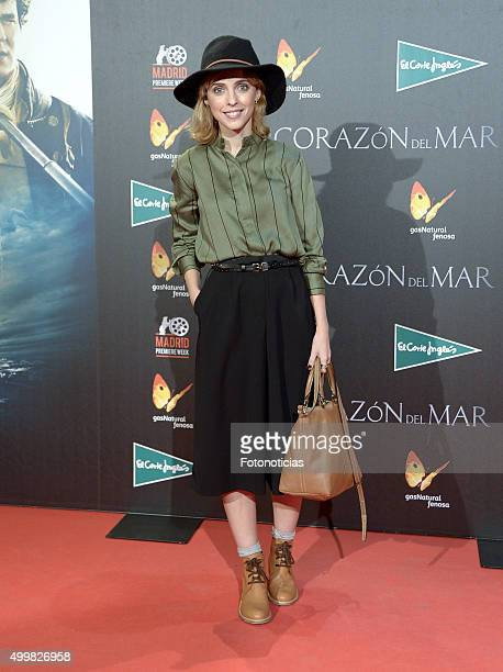 Leticia Dolera attends the 'In The Heart Of The Sea' Premiere at Callao Cinema on December 3 2015 in Madrid Spain