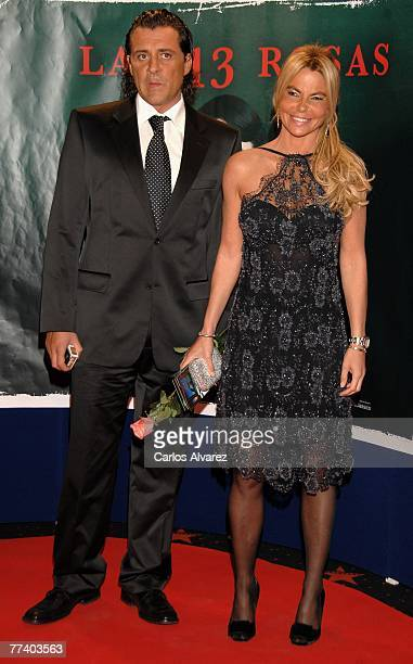 Leticia Sabater and her boyfriend attends the premiere of 'Las 13 Rosas' on October 18 2007 at Kinepolis cinema in Madrid Spain