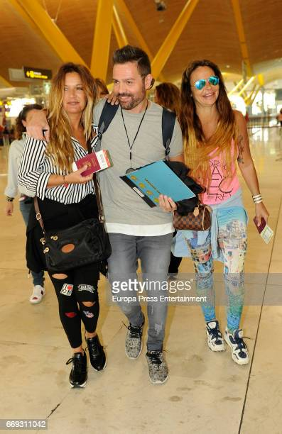 Leticia Sabater and Melli are seen travelling to Honduras to take part at 'Supervivientes' tv contest on April 14 2017 in Madrid Spain