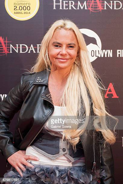 Leticia Sabater attends 'La Hermandad' Madrid Premiere at Capitol Cinema on March 20 2014 in Madrid Spain