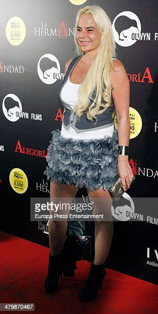 Leticia Sabater attends 'La Hermandad' Madrid Premiere on March 20 2014 in Madrid Spain