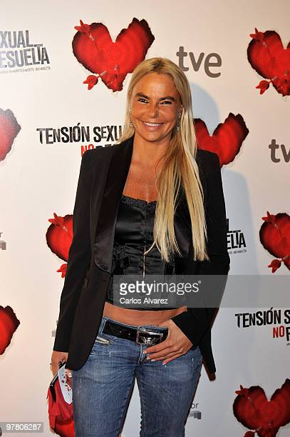 Leticia Sabater attends the premiere of ''Tension Sexual No Resuelta'' at the Capitol cinema on March 17 2010 in Madrid Spain