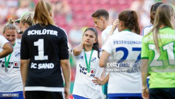 Leticia Santos of Sand disappointed after the Women's DFB Cup Final 2017 match between SC Sand and VFL Wolfsburg at RheinEnergieStadion on May 27...