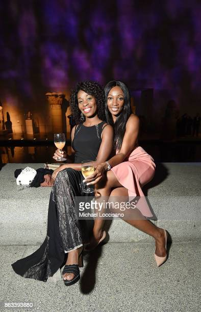 Letisha Savoy and Edore Jarikre attend the 2017 Apollo Circle Benefit at The Metropolitan Museum of Art on October 19 2017 in New York City