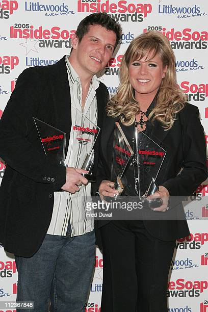 Letitia Dean and Nigel Harman during Inside Soap Awards 2005 Arrivals at Floridita 100 Wardour Street in London Great Britain