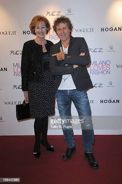Letizia Moratti and Renzo Rosso attend the Duran Duran dinner and concert at the Teatro dal Verme as part of Milan Fashion Week Womenswear...