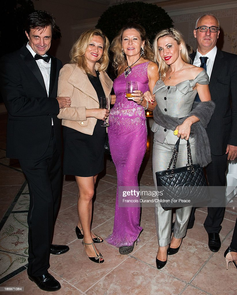 Letizia Vanni and guest attend the 'Opera Romeo and Juliette' : Gala to the benefit of the The Children for Peace association, on October 26, 2013 in Monte-Carlo, Monaco.