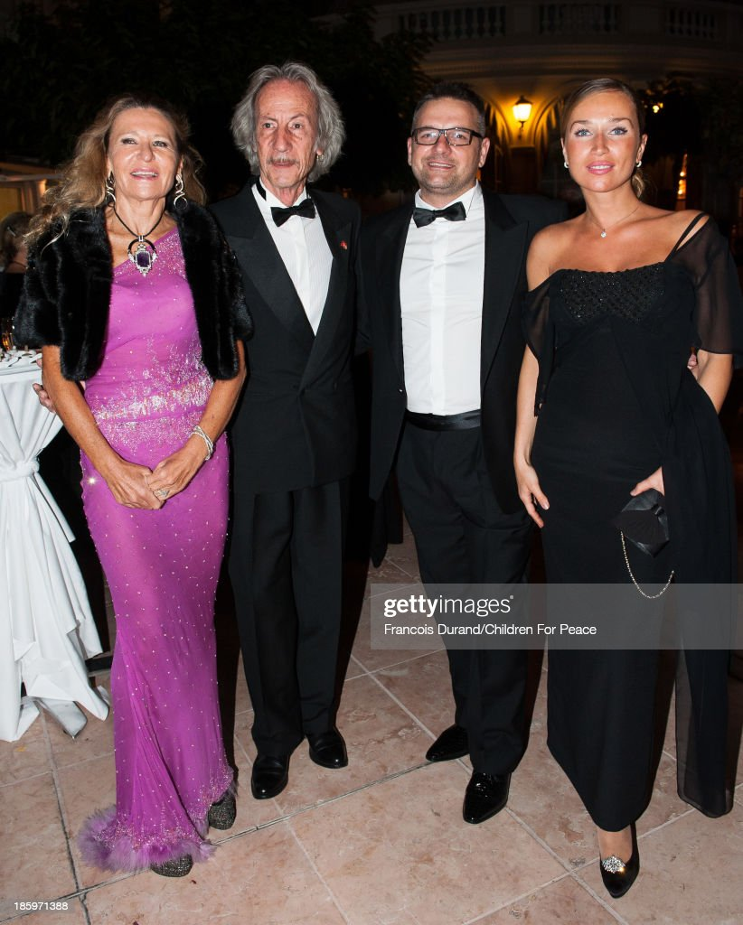 Letizia Vanni, Awana Gana and Francesco Coppola attend the 'Opera Romeo and Juliette' : Gala to the benefit of the The Children for Peace association, on October 26, 2013 in Monte-Carlo, Monaco.