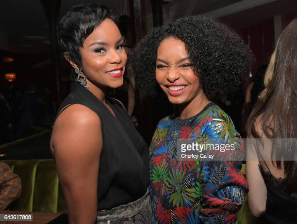LeToya Luckett and actor Yara Shahidi attend Vanity Fair and L'Oreal Paris Toast to Young Hollywood hosted by Dakota Johnson and Krista Smith at...