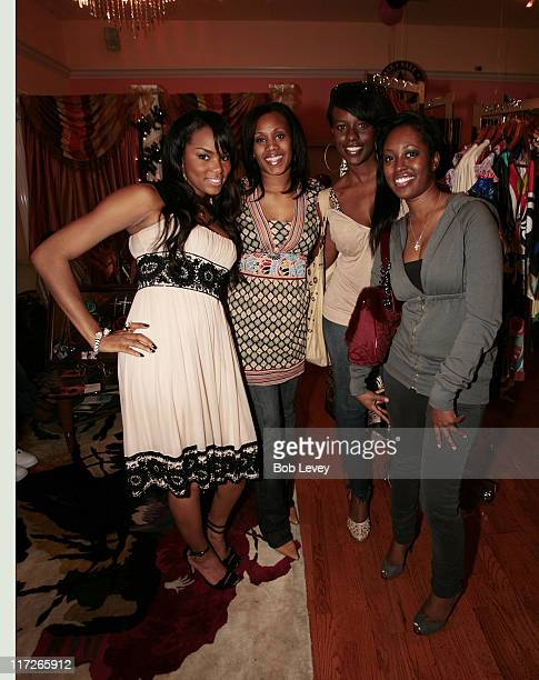 LeToya Luckett and friends during LeToya Luckett Hosts A Pink Christmas At Her Lady Elle Boutique at Lady Elle Boutique in Houston Texas United States