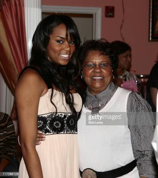 LeToya Luckett and her grandmother during LeToya Luckett Hosts A Pink Christmas At Her Lady Elle Boutique at Lady Elle Boutique in Houston Texas...