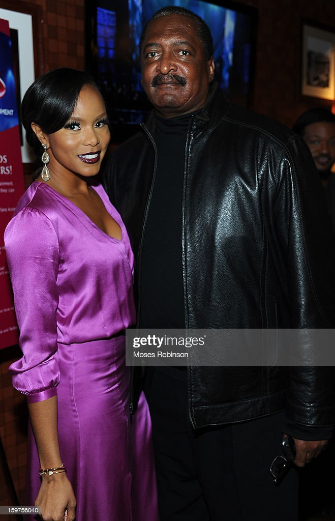 LeToya Luckett and Mathew Knowles attend the 28th Annual Stellar Awards Backstage at Grand Ole Opry House on January 19, 2013 in Nashville, Tennessee.