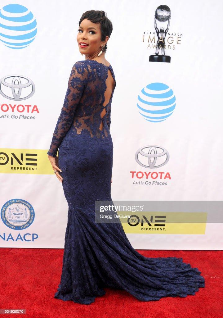 LeToya Luckett arrives at the 48th NAACP Image Awards at Pasadena Civic Auditorium on February 11, 2017 in Pasadena, California.