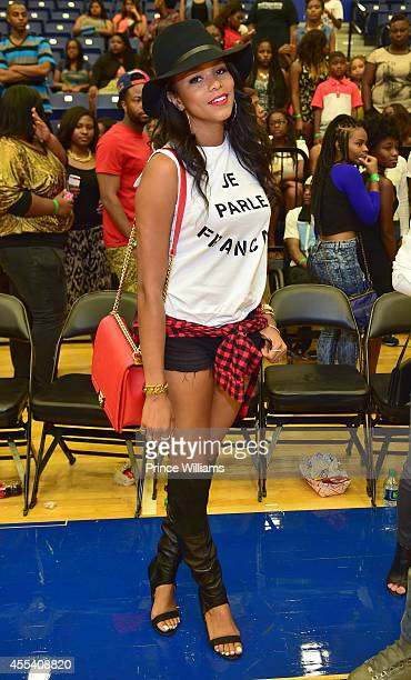 Letoya Luckett attends the LUDA vs YMCMB celebrity basketball game at Georgia State University Sports Arena on August 31 2014 in Atlanta City